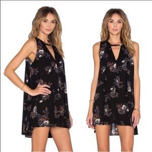 FREE PEOPLE Tree Swing Floral Keyhole Tank Dress